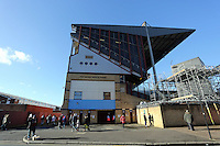 Pictured: Exterior view of the Bobby Moore Stand of Boleyn Ground. 01 February 2014<br />