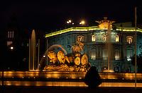 Spanien,Cibeles-Brunnenauf der Plaza Cibeles in Madrid, 18.Jh Darstellung der Göttin Kybele