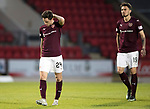 St Johnstone v Hearts 17.05.17     SPFL    McDiarmid Park<br />Liam Smith and Krystian Nowak leave the pitch at full time<br />Picture by Graeme Hart.<br />Copyright Perthshire Picture Agency<br />Tel: 01738 623350  Mobile: 07990 594431