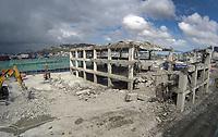 BNZ building demoltion site. CentrePort in Wellington, New Zealand on Monday, 21 September 2020. Photo: Dave Lintott / lintottphoto.co.nz