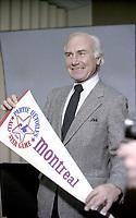 Jim Fanning et autres, <br /> La Caravane des Expos, 6 janvier 1982<br /> <br /> <br /> PHOTO : Agence Quebec Presse