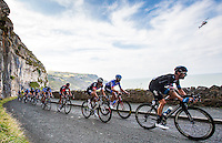 Picture by Alex Whitehead/SWpix.com - 08/09/2014 - Cycling - 2014 Friends Life Tour of Britain - Stage 2, Knowsley to Llandudno - Team Sky's Sir Bradley Wiggins in action on the Great Orme near the finish of Stage 2 in Llandudno.