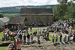 The annual Padley Martyrs Roman Catholic Pilgrimage. Padley, Padley Chapel, Grindleford, Derbyshire  UK 2008.