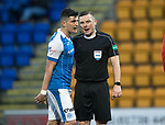 St Johnstone v Kilmarnock…02.12.17…  McDiarmid Park…  SPFL<br />Graham Cummins gets no joy out of referee John Beaton after claiming he was fouled in the box<br />Picture by Graeme Hart. <br />Copyright Perthshire Picture Agency<br />Tel: 01738 623350  Mobile: 07990 594431