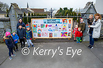 The children of Moyvane standing at The Gateway to Inspiration that is the artwork created by the children in Moyvane. From l to r: Nadine Stack, Kyle and Gavin Quinn, Jack Hennessy and Kayleigh, Ally Mae, Harley and Mattie Quinn, Martina and Hayden Barry.