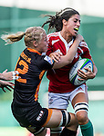Portugal vs Netherlands during the Day 2 of the IRB Women's Sevens Qualifier 2014 at the Skek Kip Mei Stadium on September 13, 2014 in Hong Kong, China. Photo by Aitor Alcalde / Power Sport Images