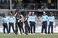 Action during the 1st ODI women's cricket international between New Zealand White Ferns and England at Hagley Oval in Christchurch, New Zealand on Tuesday, 23 February 2021. Photo: Martin Hunter / lintottphoto.co.nz