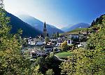 Italy, South Tyrol, Alto Adige, village San Pancrazio at Ulten Valley (Val d'Ultimo) | Italien, Suedtirol, St. Pankraz (San Pancrazio) im Ultental (Val d'Ultimo), das parallel zum Vinschgau verlaeuft und bei Lana im Meraner Becken beginnt
