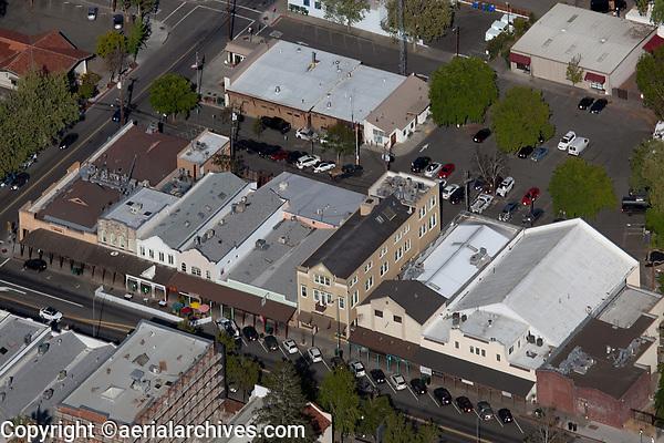 aerial photograph of Lincoln Avenue, Calistoga, Napa County, California