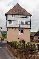 Templer-Haus aus dem 13. Jh. in Amorbach im Odenwald, Bayern, Deutschland