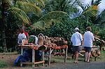 Small souvenir shops in the carib territory<br /> <br /> Petites boutiques de souvenirs en territoire caraibe.
