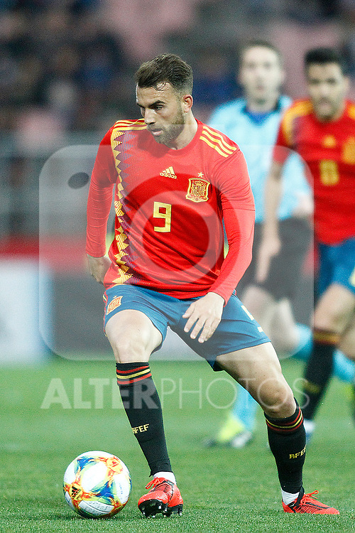 Spain's Borja Mayoral  during the International Friendly match on 21th March, 2019 in Granada, Spain. (ALTERPHOTOS/Alconada)