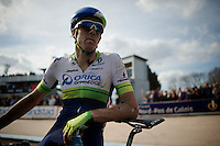 a disappointed Mathew Hayman (AUS/Orica-GreenEDGE) after the race<br /> <br /> 113th Paris-Roubaix 2015