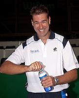 16-9-09, Netherlands,  Maastricht, Tennis, Daviscup Netherlands-France, Training, Fysiotherapeut Edwin Visser
