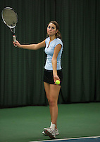 Rotterdam, The Netherlands, 15.03.2014. NOJK 14 and 18 years ,National Indoor Juniors Championships of 2014, Anne-Fleur Schonck (NED)<br /> Photo:Tennisimages/Henk Koster