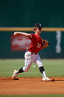 Dylan Koontz (30) of William Amos Hough High School in Huntersville, NC during the Perfect Game National Showcase at Hoover Metropolitan Stadium on June 19, 2020 in Hoover, Alabama. (Mike Janes/Four Seam Images)