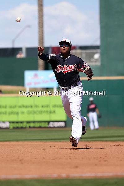 Jose Ramirez - Cleveland Indians 2016 spring training (Bill Mitchell)