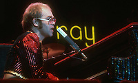 Elton John 1985<br /> Photo By John Barrett/PHOTOlink