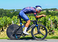 17th July 2021, St Emilian, Bordeaux, France;  RICKAERT Jonas (BEL) of ALPECIN - FENIX, during stage 20 of the 108th edition of the 2021 Tour de France cycling race, an individual time trial stage of 30,8 kms between Libourne and Saint-Emilion.