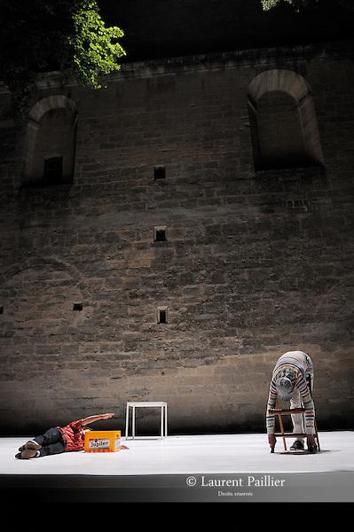 ALREADY MADE<br /> une pièce de Gaëtan Bulourde<br /> avec <br /> Gaetan Bulourde<br /> Valérie Castan<br /> Antonia Baehr<br /> mixage et musiques additionelles Fred Bigot<br /> lumières Sylvie Garot<br /> Compagnie : <br /> Lieu: Le jardin de l'Eveche<br /> Ville : Uzes<br /> Festival Uzes Danse 2011<br /> le 21/06/2011<br /> © Laurent Paillier / photosdedanse.com<br /> All rights reserved