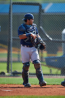 Tampa Bay Rays Armando Araiza (34) during a minor league Spring Training intrasquad game on April 1, 2016 at Charlotte Sports Park in Port Charlotte, Florida.  (Mike Janes/Four Seam Images)
