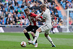 Real Madrid's Toni Kroos and Athletic Club de Bilbao's Iker Muniain during La Liga match between Real Madrid and Athletic Club de Bilbao at Santiago Bernabeu Stadium in Madrid, Spain. April 21, 2019. (ALTERPHOTOS/A. Perez Meca)