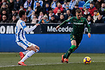 CD Leganes's Mikel Vesga and Real Betis Balompie's Giovani Lo Celso during La Liga match between CD Leganes and Real Betis Balompie at Butarque Stadium in Madrid, Spain. February 10, 2019. (ALTERPHOTOS/A. Perez Meca)