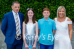 O'Brennan NS pupils twins Abbie and Ben Murphy who were confirmed last Thursday in St Brendan's Church, Clogher pictured with Peter, Abbie, Ben Murphy with Fiona Foran.
