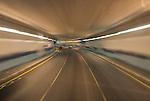 Travelling in tunnel to The Palm, Dubai, United Arab Emirates