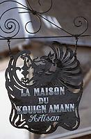 Europe/France/Bretagne/29/Finistère/Concarneau: La ville close - Enseigne de la maison du Kouign Amann