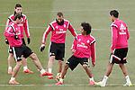 Real Madrid's James Rodriguez, Garet Bale, Karim Benzema, Marcelo Vieira and Raphael Varane during training session.January 30,2015.(ALTERPHOTOS/Acero)
