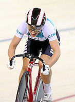Kate Stewart at the BikeNZ Elite & U19 Track National Championships, Avantidrome, Home of Cycling, Cambridge, New Zealand, Sunday, March 16, 2014. Credit: Dianne Manson