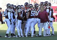Nov 27, 2010; Charlottesville, VA, USA;  Virginia Tech head coach Frank Beamer during the game at Lane Stadium. Virginia Tech won 37-7. Mandatory Credit: Andrew Shurtleff-