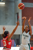A. Elonu (11) of Nigeria pictured during a basketball game between Nigeria and Puerto Rico on Friday 28 th of May 2021 in Kortrijk , Belgium . PHOTO SPORTPIX.BE   SPP   STIJN AUDOOREN