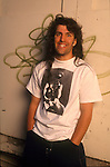 Anthrax bassist, Frank Bellow, poses for a portrait session