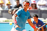 Rafael Nadal, Spain, during Madrid Open Tennis 2015 match.May, 7, 2015.(ALTERPHOTOS/Acero)