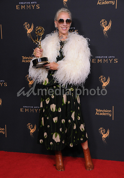 10 September  2017 - Los Angeles, California - Michelle Clapton. 2017 Creative Arts Emmys - Press Room held at Microsoft Theatre L.A. Live in Los Angeles. Photo Credit: Birdie Thompson/AdMedia