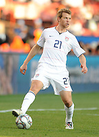 Jonathan Spector of USA. Brazil defeated USA 3-0 during the FIFA Confederations Cup at Loftus Versfeld Stadium in Tshwane/Pretoria, South Africa on June 18, 2009.