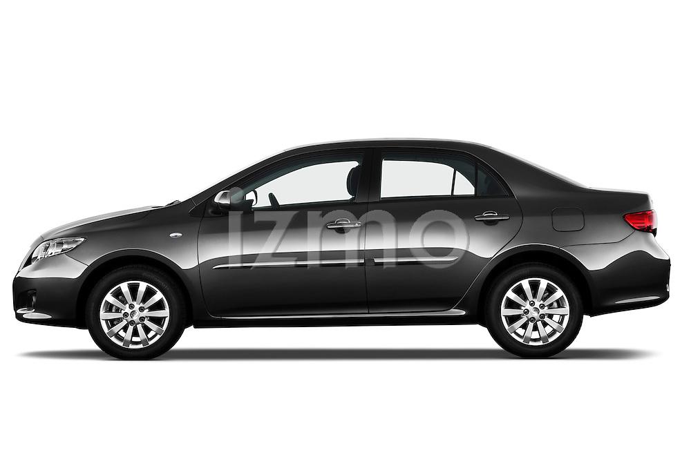 Driver side profile view of a 2010 Toyota Corolla Linea Sol 4 Door Sedan.