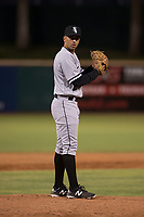 AZL White Sox relief pitcher Rigo Fernandez (31) prepares to deliver a pitch during an Arizona League game against the AZL Indians 1 at Goodyear Ballpark on June 20, 2018 in Goodyear, Arizona. AZL Indians 1 defeated AZL White Sox 8-7. (Zachary Lucy/Four Seam Images)