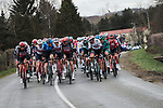The peloton in action during Stage 5 of the 78th edition of Paris-Nice 2020, running 227km from Gannat to La Cote-Saint-Andre, France. 12th March 2020.<br /> Picture: ASO/Fabien Boukla | Cyclefile<br /> All photos usage must carry mandatory copyright credit (© Cyclefile | ASO/Fabien Boukla)