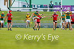 Brandon Barrett, Kerry in action against Ronan Costello, Down during the National hurling league between Kerry v Down at Austin Stack Park, Tralee on Sunday.