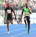 11.09.2011, Olympic Stadium / Olympiastadion, Berlin, GER, ISTAF 2011, im Bild Richard THOMPSON (TRI) und Yohan BLAKE (JAM) in der Disziplin Maenner - 100M // Richard THOMPSON (TRI) and Yohan BLAKE (JAM) competing in Men - 100M during the ISTAF 2011 held in Berlin, GER, EXPA Pictures © 2011, PhotoCredit: EXPA/ S. Kiesewetter