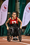 MONTREAL, QC - APRIL 29:  A participant sprints during the 2017 Montreal Paralympian Search at Complexe sportif Claude-Robillard. Photo: Minas Panagiotakis/Canadian Paralympic Committee