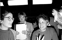 Louise Harel  attend the Parti Quebecois' Conseil National Extrordinaire at Montreal's convention centre, January 18 and 19, 1985.<br /> <br /> File Photo : Agence Quebec Presse - Pierre Roussel