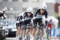Michal Kwiatkowski (POL/Etixx-Quickstep) leading his teammates<br /> <br /> Elite Men's Team Time Trial<br /> UCI Road World Championships Richmond 2015 / USA