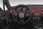 Car pictures of steering wheel view of a 2015 Mazda MX-5 Miata Club Auto 2 Door Convertible Steering Wheel