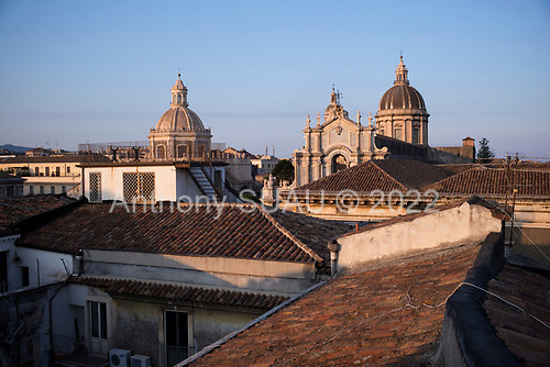 Catania, Sicily, Italy<br /> July 24, 2019<br /> <br /> The town at sunset