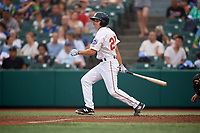 Brooklyn Cyclones Antoine Duplantis (20) bats during a NY-Penn League game against the Tri-City ValleyCats on August 17, 2019 at MCU Park in Brooklyn, New York.  Brooklyn defeated Tri-City 2-1.  (Mike Janes/Four Seam Images)