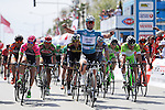 Race leader Mark Cavendish (GBR) Etixx-Quick Step wins Stage 2 of the 2015 Presidential Tour of Turkey running 182km from Alanya to Antalya. 27th April 2015.<br /> Photo: Tour of Turkey/Stiehl Photography/Mario Stiehl/www.newsfile.ie